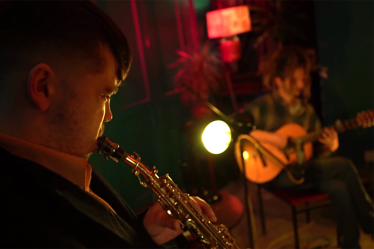 Still from the Hypnagogia live session video for guitarist Joel Whitaker